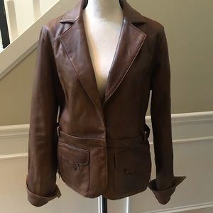 WHBM Faux Leather Jacket